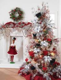images of christmas trees decorated with top hats christmas tree red white black top hat beads white holida