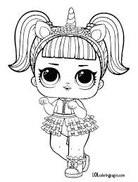 Unicorn Series 3 Lol Surprise Doll Coloring Page Annies Mommy
