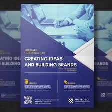 Blue Corporate Flyer Template Template For Free Download On
