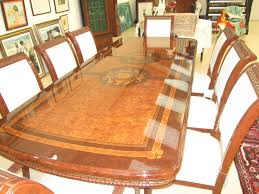 20th century birds eye maple dining table chairs