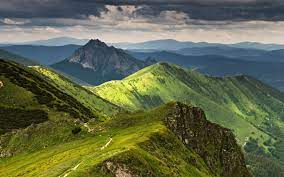 Free photo: Green Mountains - Clouds ...