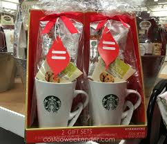 includes 2 starbucks coffee mug gift sets