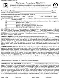 blank real estate purchase agreement download kentucky offer to purchase real estate form for