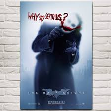 <b>NUOMEGE</b> Batman The Dark Knight Joker Art Silk <b>Posters</b> Prints 12 ...