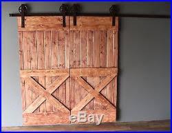 9 ft modern double sliding barn door hardware kit 100 steel made in usa