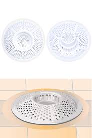 hair stopper drain protector detail top and bottom view drain trap sits down inside for effective function