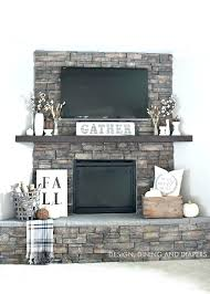 fireplace mantel ideas with tv decor fall home tour fire place hearth decorating5 decorating