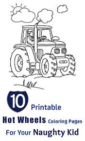 10 Printable Hot Wheels Coloring Pages