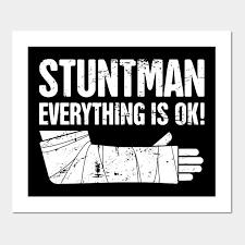 Get Well Soon Poster Stuntman Funny Broken Arm Get Well Soon Gift