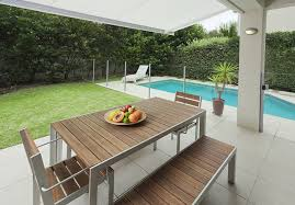 modern concrete patio. 3 Great Ideas To Turn Your Old Fashioned Yard Into A Modern Concrete Patio