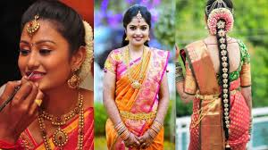 traditional south indian bridal makeup hairstyle step by step makeup and hairstyle tutorial