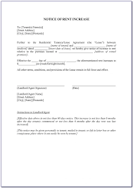 Rent Increase Form California California 60 Day Notice To Increase Rent Form Form Resume