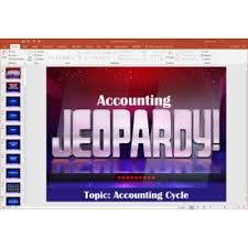 Powerpoint Jeopardy Game Covering Master Budgets