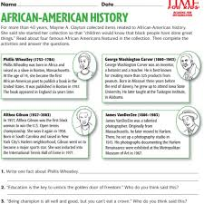 Small Picture Famous african americans activity sheets for children black