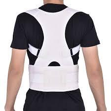 Yosoo Men Women Elastic Adjustable Shoulder Brace Waist Belt Back Support Posture Corrector,
