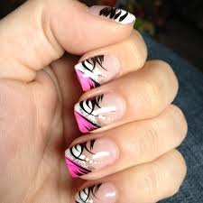 Black Pink And White Nail Designs How You Can Do It At Home
