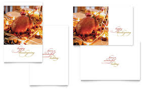 Happy Thanksgiving Greeting Card Template Word Publisher