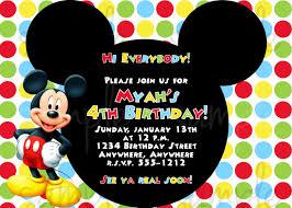 mickey mouse birthday invitations invitations design colorful mickey mouse birthday invitations