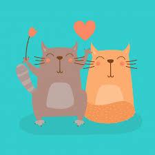 Premium Vector | <b>Sweet cartoon cat</b> in love vector illustration