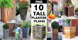 10 tall planter box plans for diy