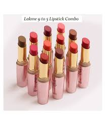 lakme 9 to 5 matte finish multi color lipstick lip crayon set of 12 36 gm lakme 9 to 5 matte finish multi color lipstick lip crayon set of 12 36 gm at