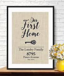 Elegant Gifts For House Warming | New Home Housewarming Gift | Our First  Home Burlap Print