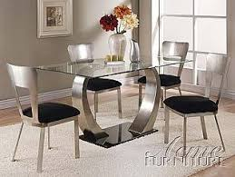 Glass top dining sets Round Image Unavailable Amazoncom Amazoncom Acme Furniture 8mm Clear Glass Dining Table Piece