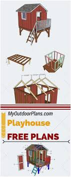 inspirational 7031 best building a children s playhouse images on for choice free playhouse plans