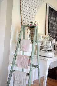 Furniture: Vintage Ladder Magazine Shelves Rack - Ladder Plants