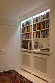 bespoke radiator cover with shelves and lighting