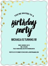 Birthday Invatations 18th Birthday Invitations From Purpletrail
