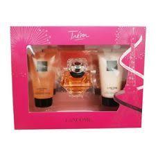 lane tresor gift set 30 ml eau de parfum body lotion shower gel