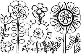 Spring Flowers Coloring Pages To Print Coloringstar