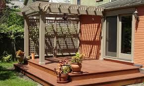 small backyard wood decks