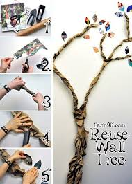 18 recycle paper creatively into tree wall decor