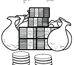 Money Coloring Pages Coin Coloring Pages Play Money Coloring Pages