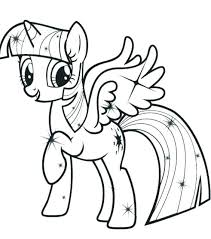 Twilight Sparkle Coloring Pages My Little Pony Pictures Ponytail