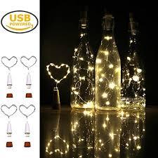 Decorative Wine Bottles With Lights Wine Bottle Cork Lights iMazer Rechargeable USB Powered Cork 83