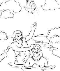Baptism Coloring Pages Baptism Coloring Page Names Of Also Holy