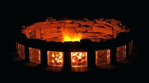 tempered glass for fire pit fire pit with tempered glass block and flagstone tempered glass windshield