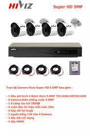 Trả góp 0%]Bộ Camera Giám Sát HIVIZ 4 Kênh 5.0MP Super HD Trọn Bộ Camera  Đầy Đủ Phụ Kiện Lắp Đặt