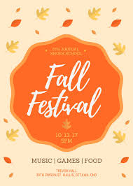 Fall Flyer Fall Festival Flyer Templates By Canva