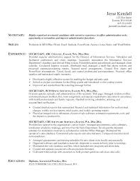 Secretary Resume Template Cool Secretary Resume Templates Medical Secretary Resume Secretary Resume