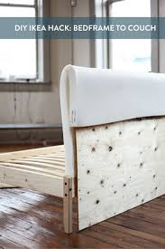 IKEA Hack: Turning a FJELLSE Bedframe into a Couch   Bed frames, Comfy and  Ikea hack