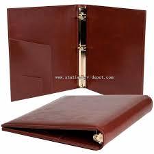 leather portfolio with ring binder