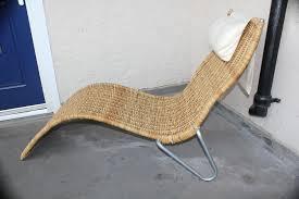 ikea wicker lounge chair wicker chaise lounge from ikea in southwark london gumtree