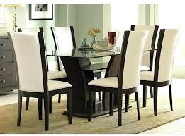 medium size of round glass dining table white chairs leather 6 oval room rectangular kitchen amusing