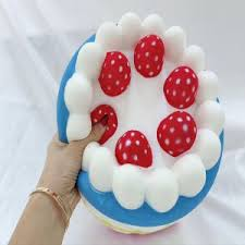 China Stress Relief Squishy Cake Strawberry For Kids Cake Design