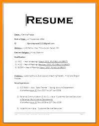 Standard Format For Resume Standard Resume Format For Mechanical Engineers Doc Download Regular