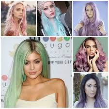 pastel colored hairstyles 2017